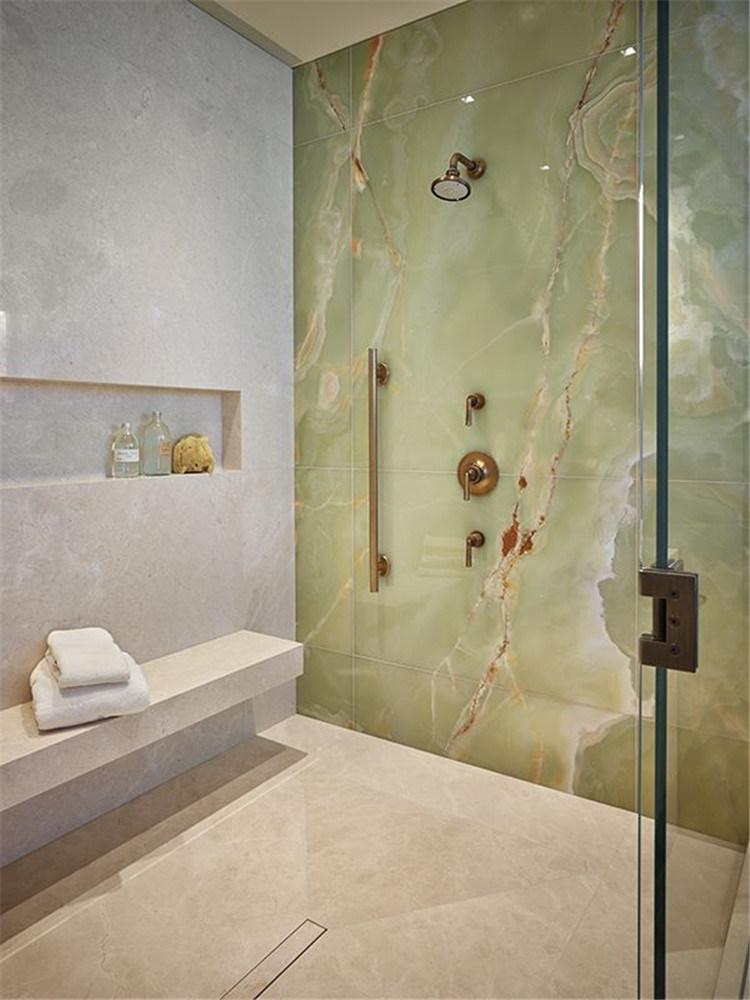 China Bathroom Wall Decor Natural Stone Big Slab Green Onyx China Marble Stone
