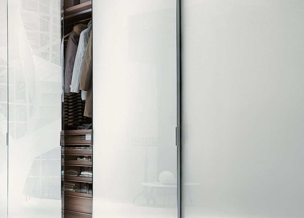 China White Glass Aluminium Frame Sliding Door Wardrobe Photos ...