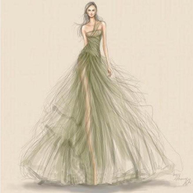 China Design Drawing Manuscript Sketch Realizable Wedding