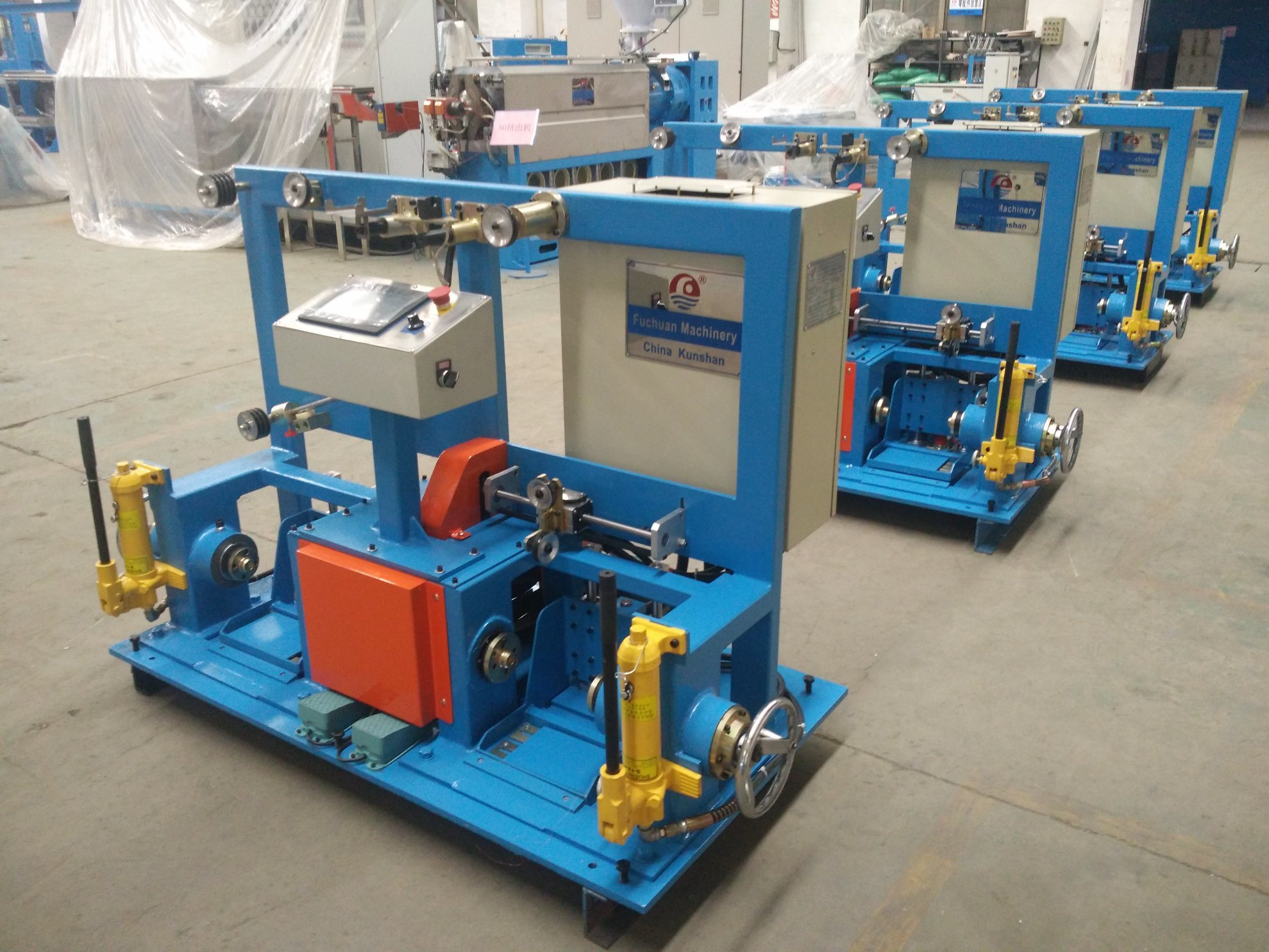 China Core Wire or Copper Wire Double Shaft Active Rewinding Machine ...