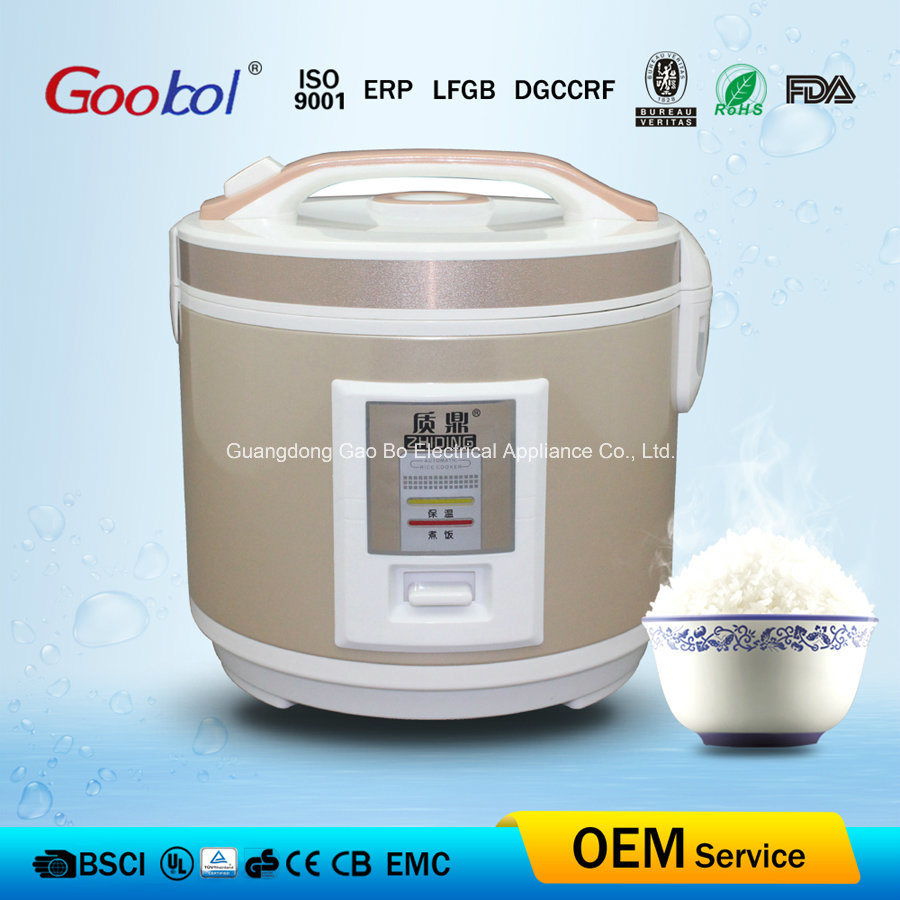 Deluxe Electric Rice Cooker Golden Stainless Steel Body 2L 3L 4L 5L 6L