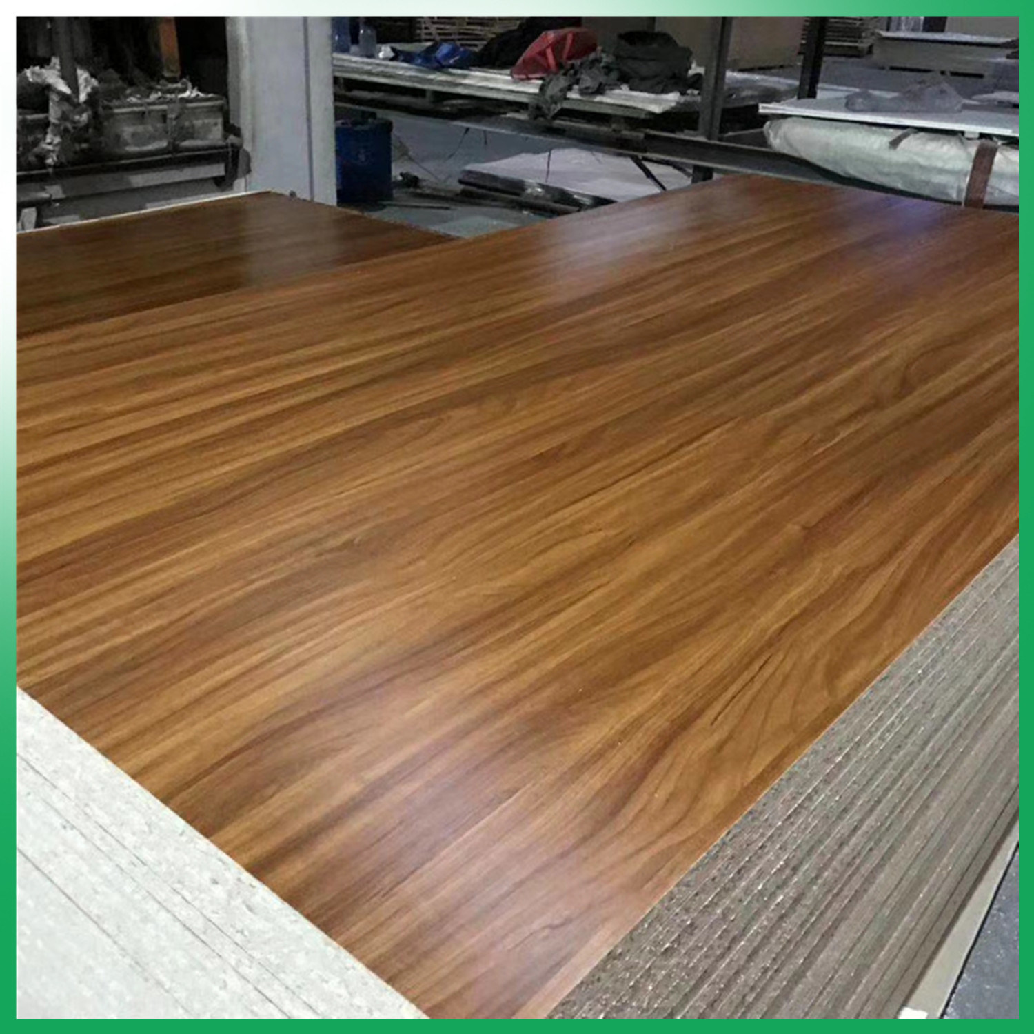 Hot Item E1 Wood Veneer Faced Melamine Faced Or Plain Particle Board Pb Chipboard For Furniture