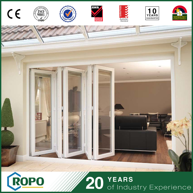 China Custom Pvc Accordion Glass Doors For Patio Modern Design