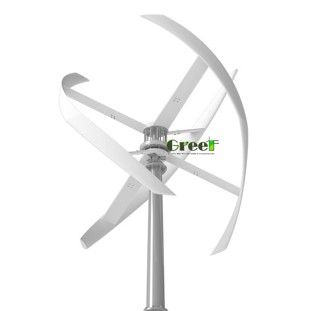 China 5kw Helical Design Vertical Axis Wind Turbines/ Home