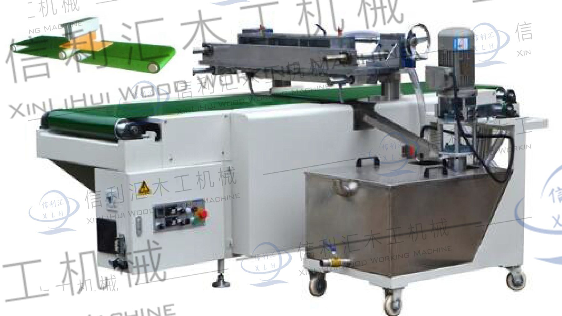 China Curtain Coating Machine For Highlight Effect On