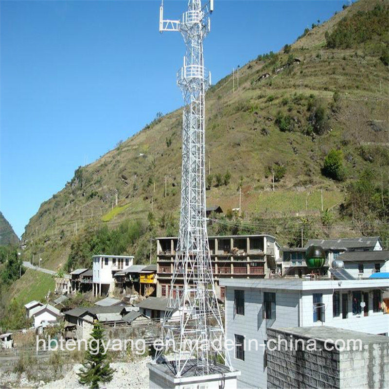 Galvanized Self Supporting Steel Lattice Tower for Telecommunication pictures & photos