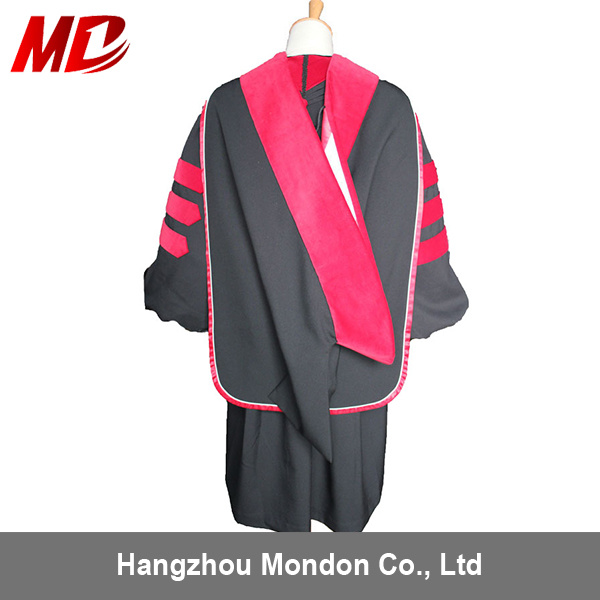 China Deluxe Bachelor Graduation Cap Gown and Hood Set Matte Black ...