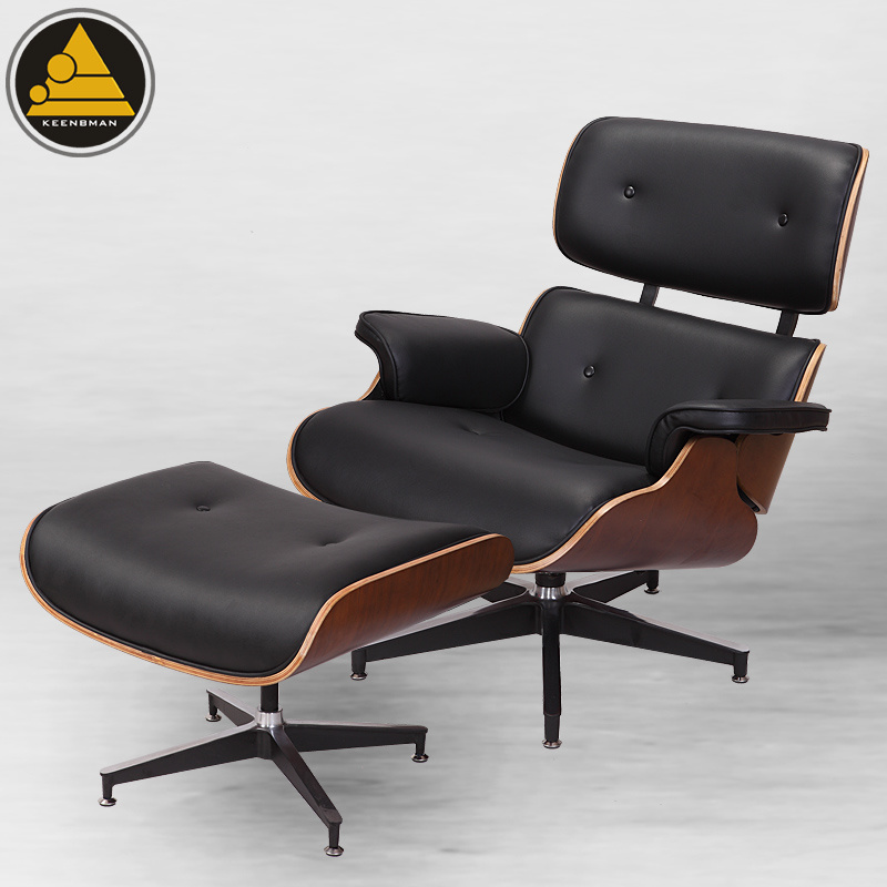 Eames Lounge Stoel Replica.Hot Item Classic Replica Pu Leather Miller Eames Lounge Chair