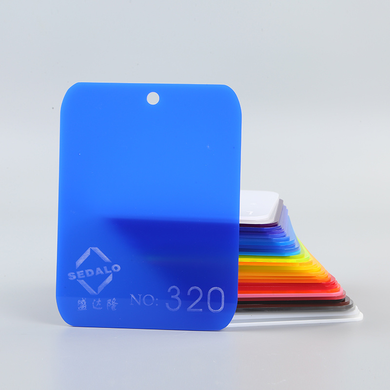 Hot Item Withstand Pressure High Gloss Light Blue 7mm Cast Acrylic Sheets For Kitchen