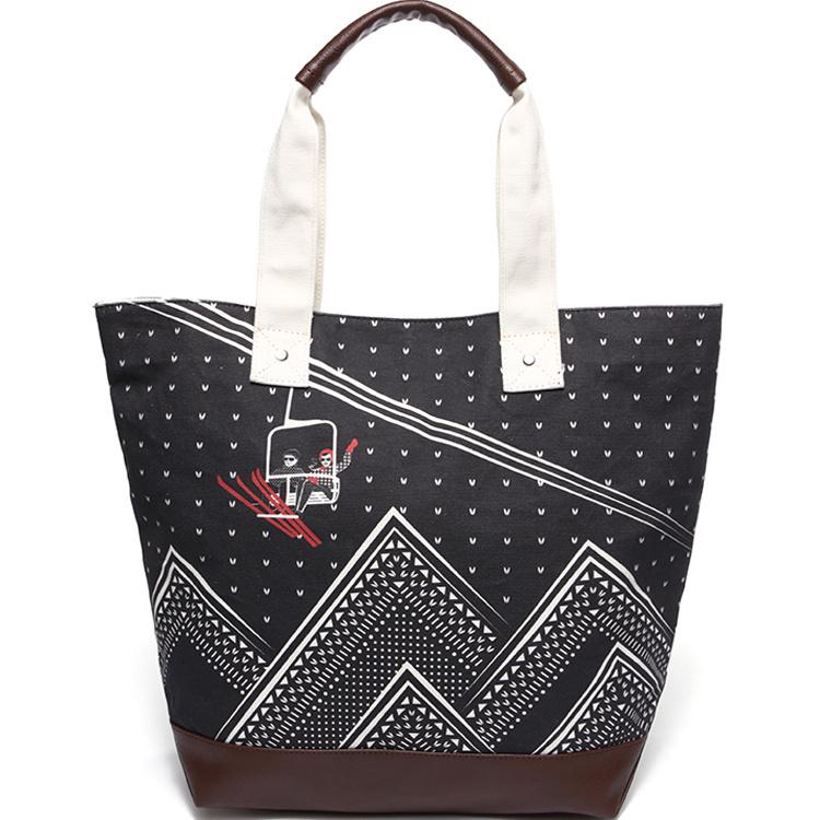 Handbag Printed Canvas Pu Leather