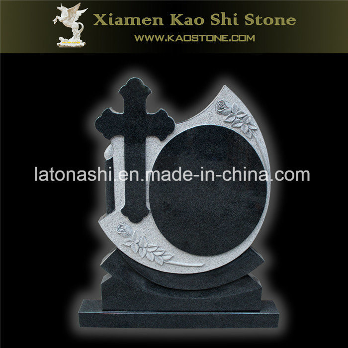 China Absolute Black Granite Stone Football Memorial For Garden