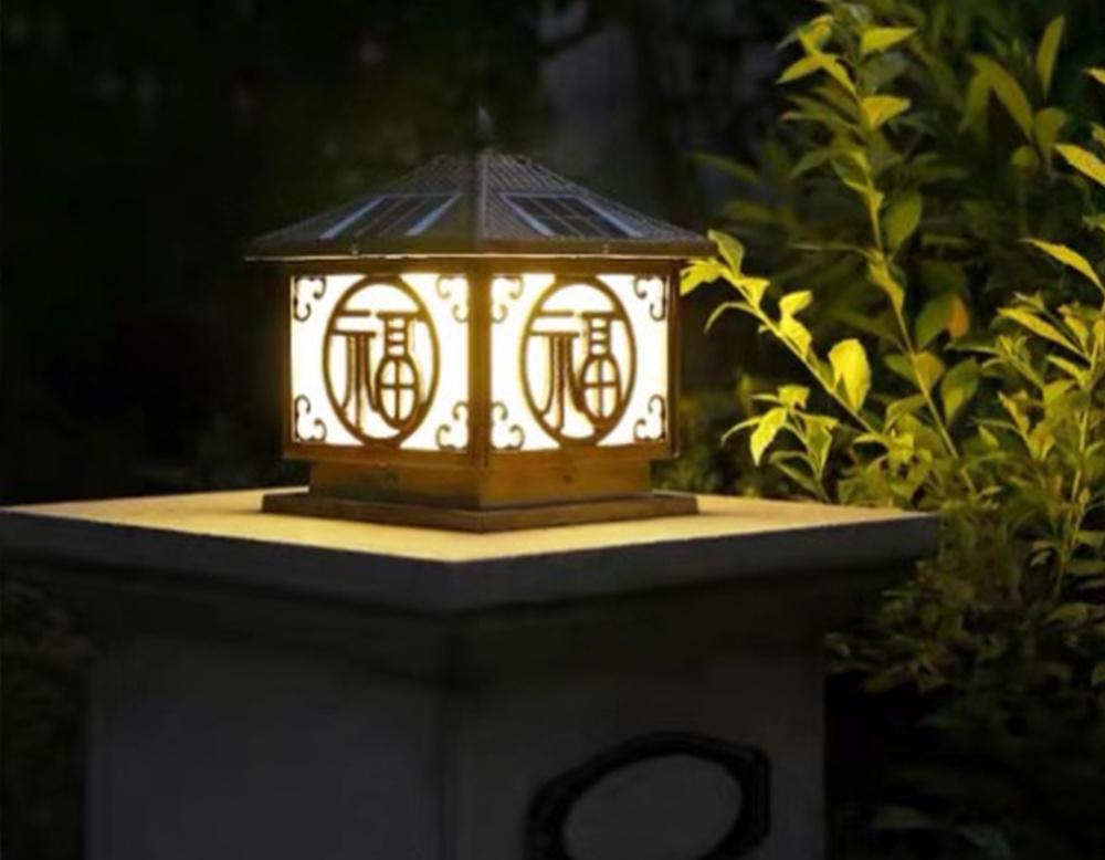 China Solar Garden Lights Pillar Rgb, Rgb Garden Lights