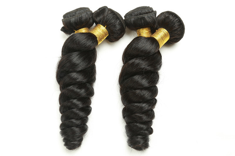 Unprocessed Brazilian Virgin Hair Extension Loose Wave 10-24inches Natural Color pictures & photos