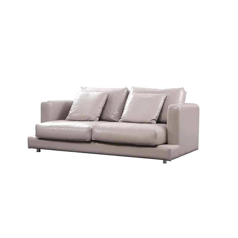 Fashion Design Light Grey Leather Sofa