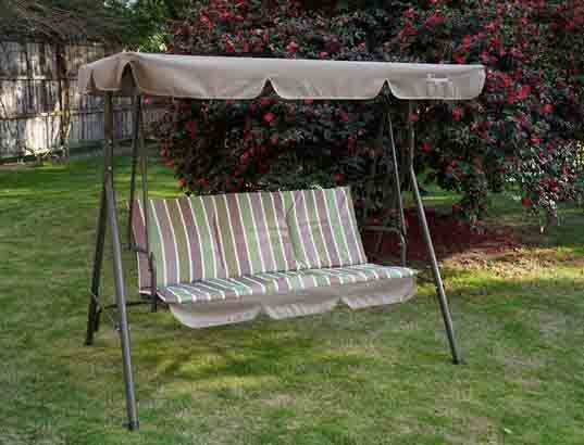 China Promotional 3 Seater Garden Patio