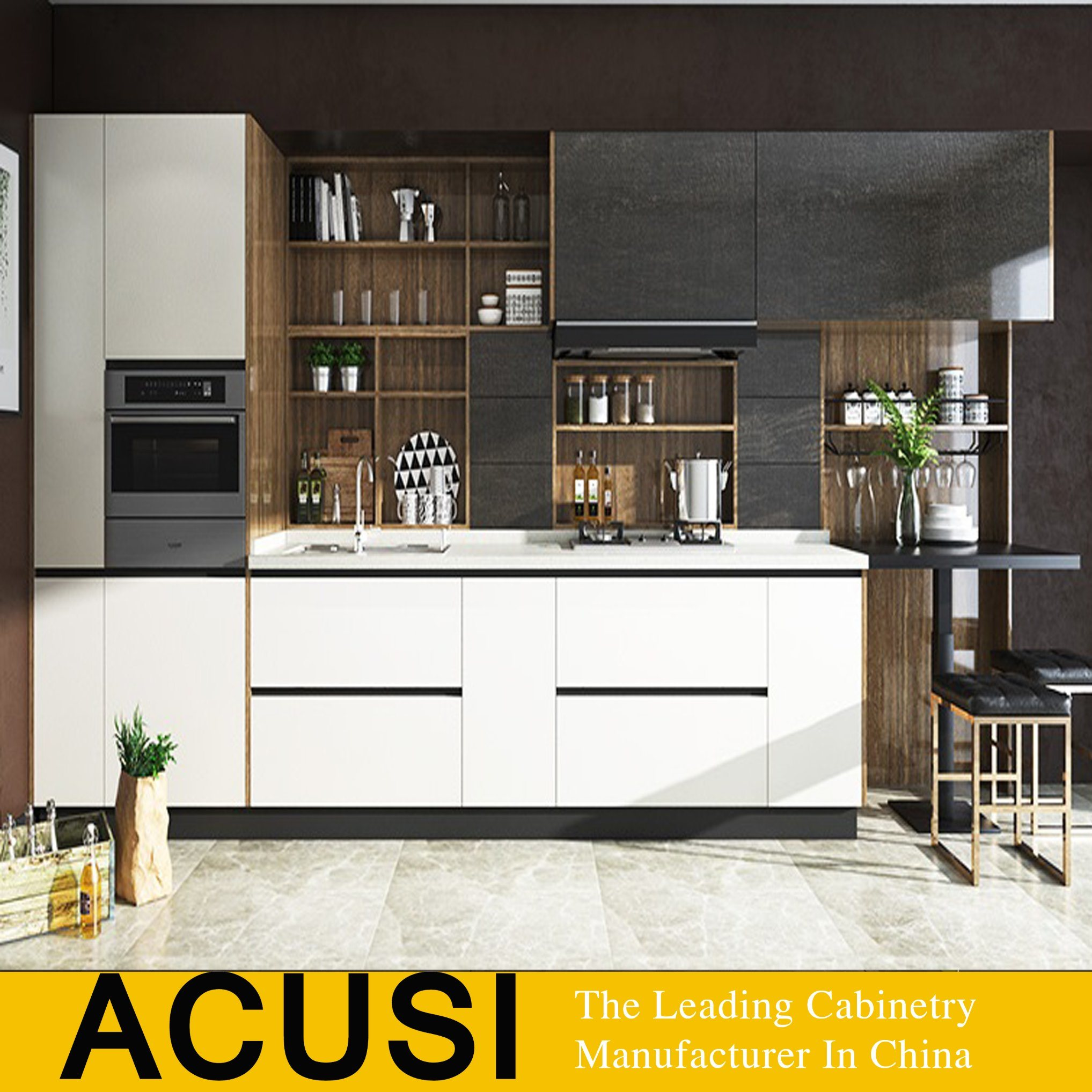 China Top Quality Kitchen Furniture Melamine Kitchen Cabinet (ACS4