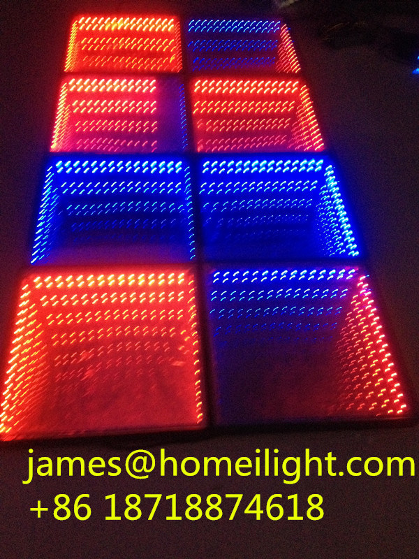 8pcs Rgb Full Color Control Led Stage Light Infinity Mirror 3d Floor