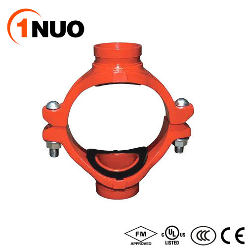 China Factory Ductile Iron Grooved Mechanical Cross (FM/UL/CE)
