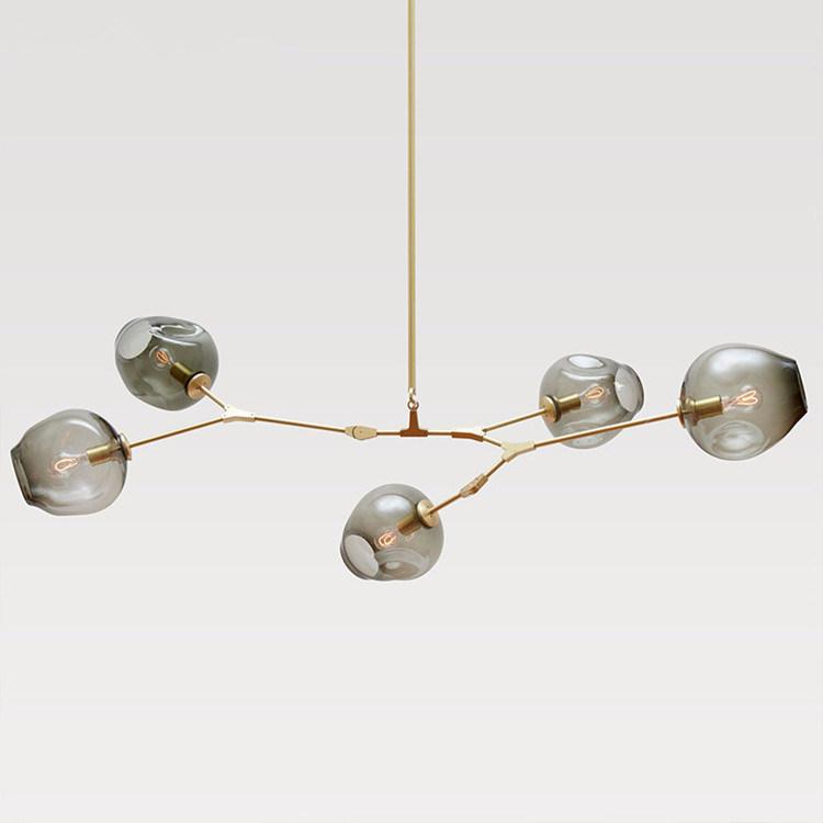 china lindsey adelman 5 globe glass branching bubble modern