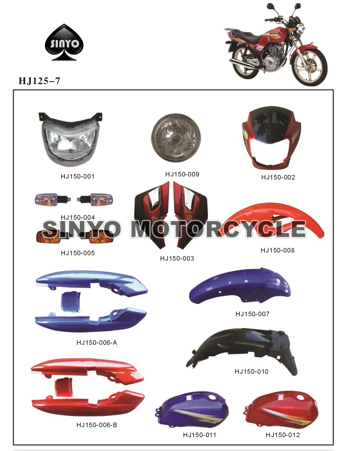 Wholesale Efficient Motorcycle Spare Parts pictures & photos