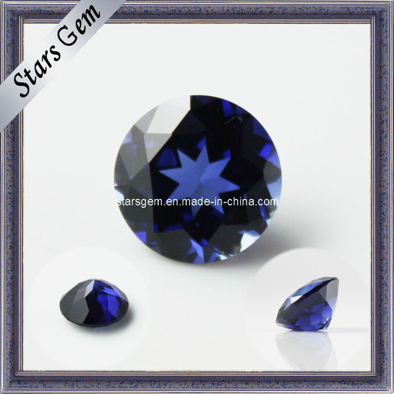 Low Price Lab Created Blue Sapphire Gemstone for Fashion Jewelry