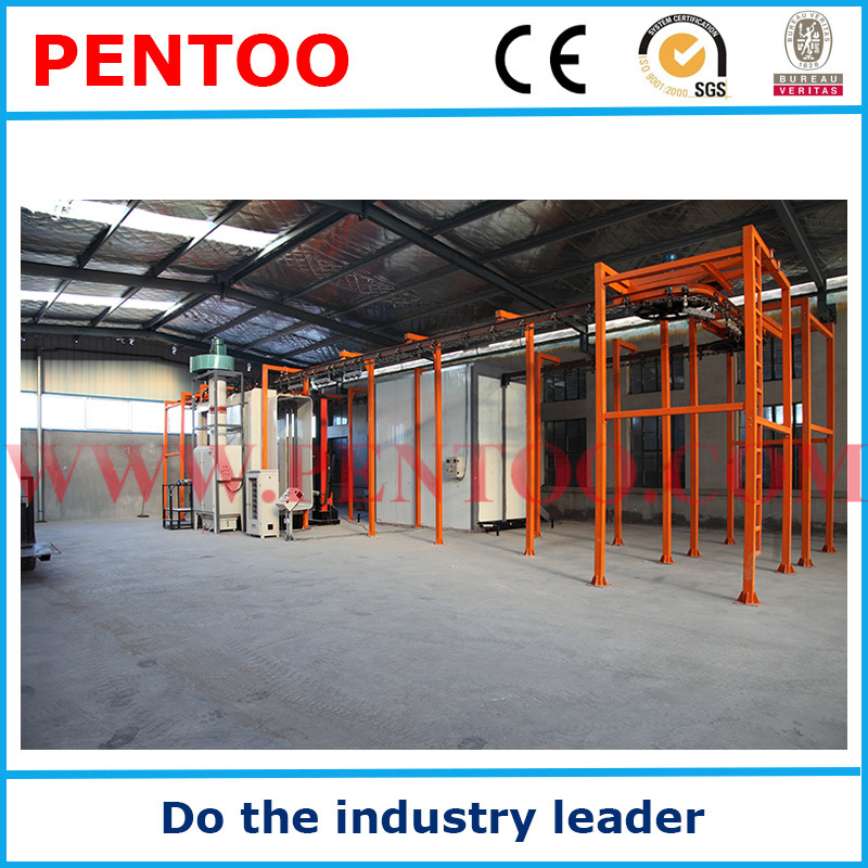 Manual Powder Painting Booth for Aluminum Sections with Recovery System