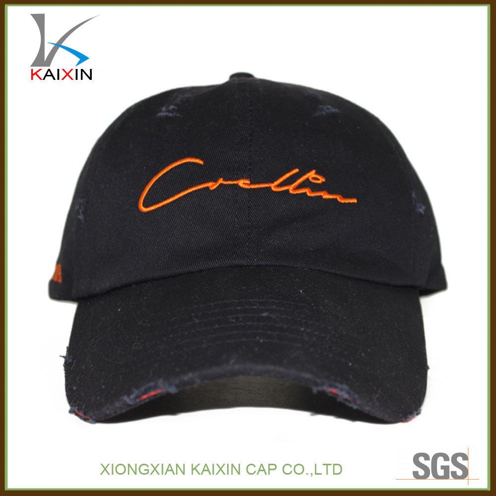 249f91f9c1594 China Custom Baseball Cap Washed Cotton Distressed Dad Hat - China Dad Hat