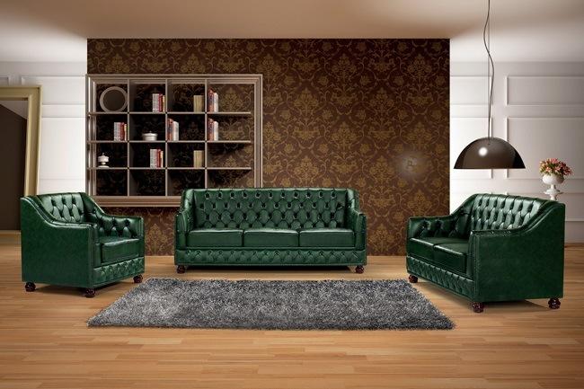 Superb Hot Item Vintage Green Leather Chesterfield Sofa Ms 07 Machost Co Dining Chair Design Ideas Machostcouk