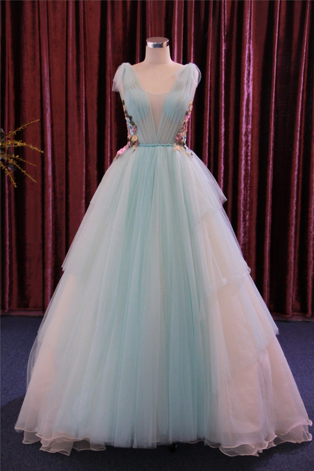 China Green Prom Evening Party Gowns - China Evening Gowns, Evening ...