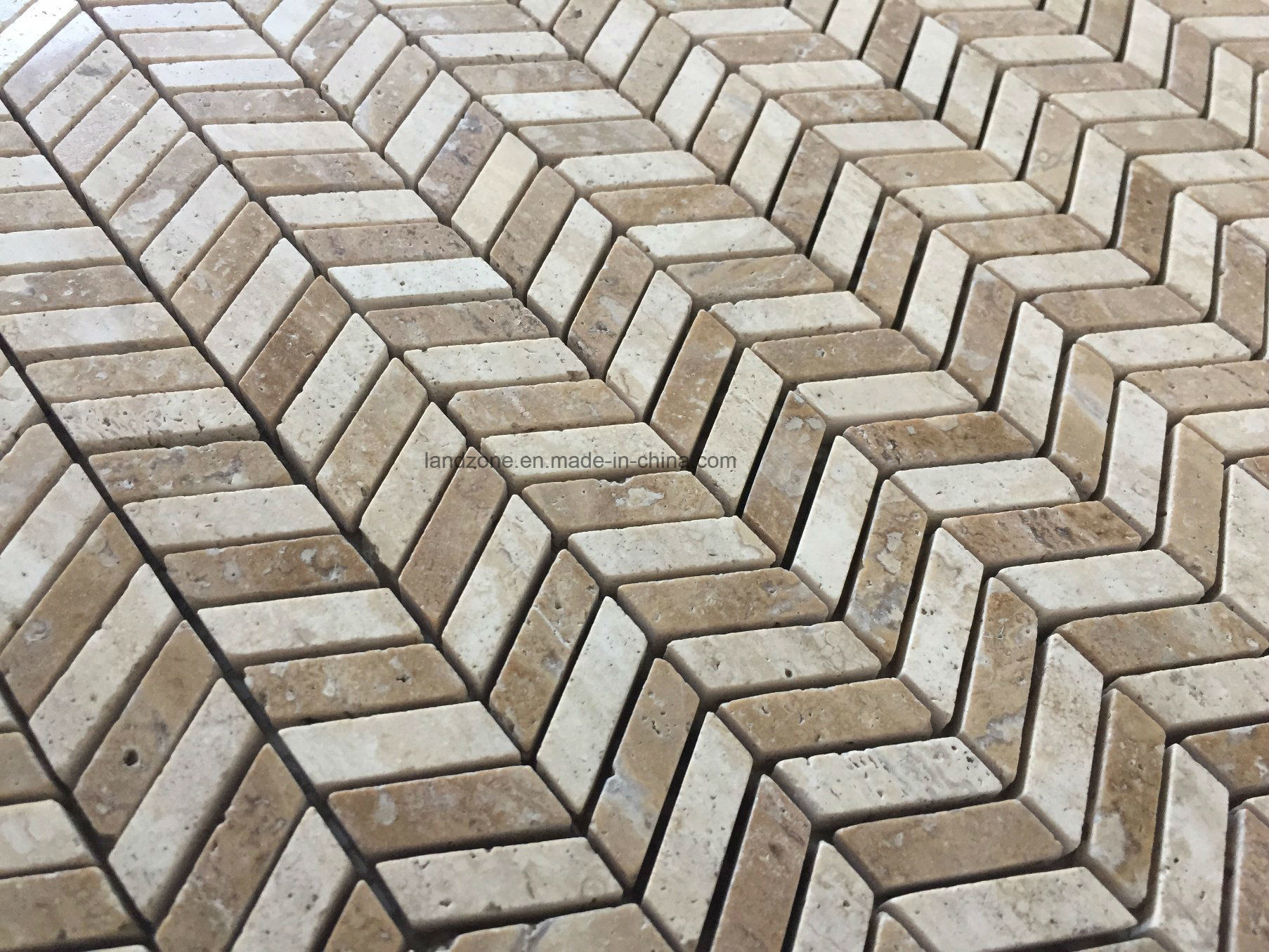 China Chevron Pattern Marble Mosaic Tile for Interior Wall Floor ...