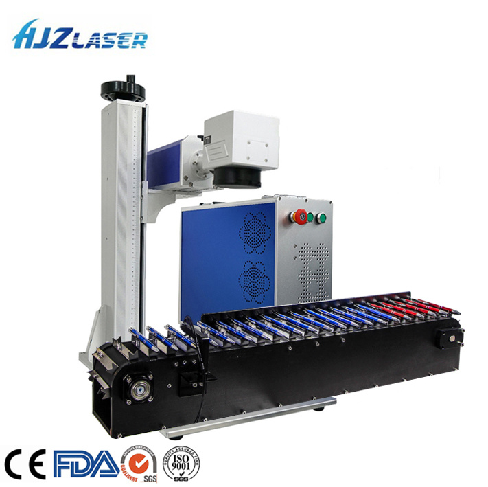 Origin 30W Fiber Laser Marking Machine Metal Engraver Marker with Rotary Device