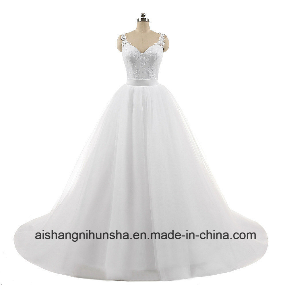 China Sweetheart Lace Sleeveless Ball Gowns Detachable Wedding Dress ...