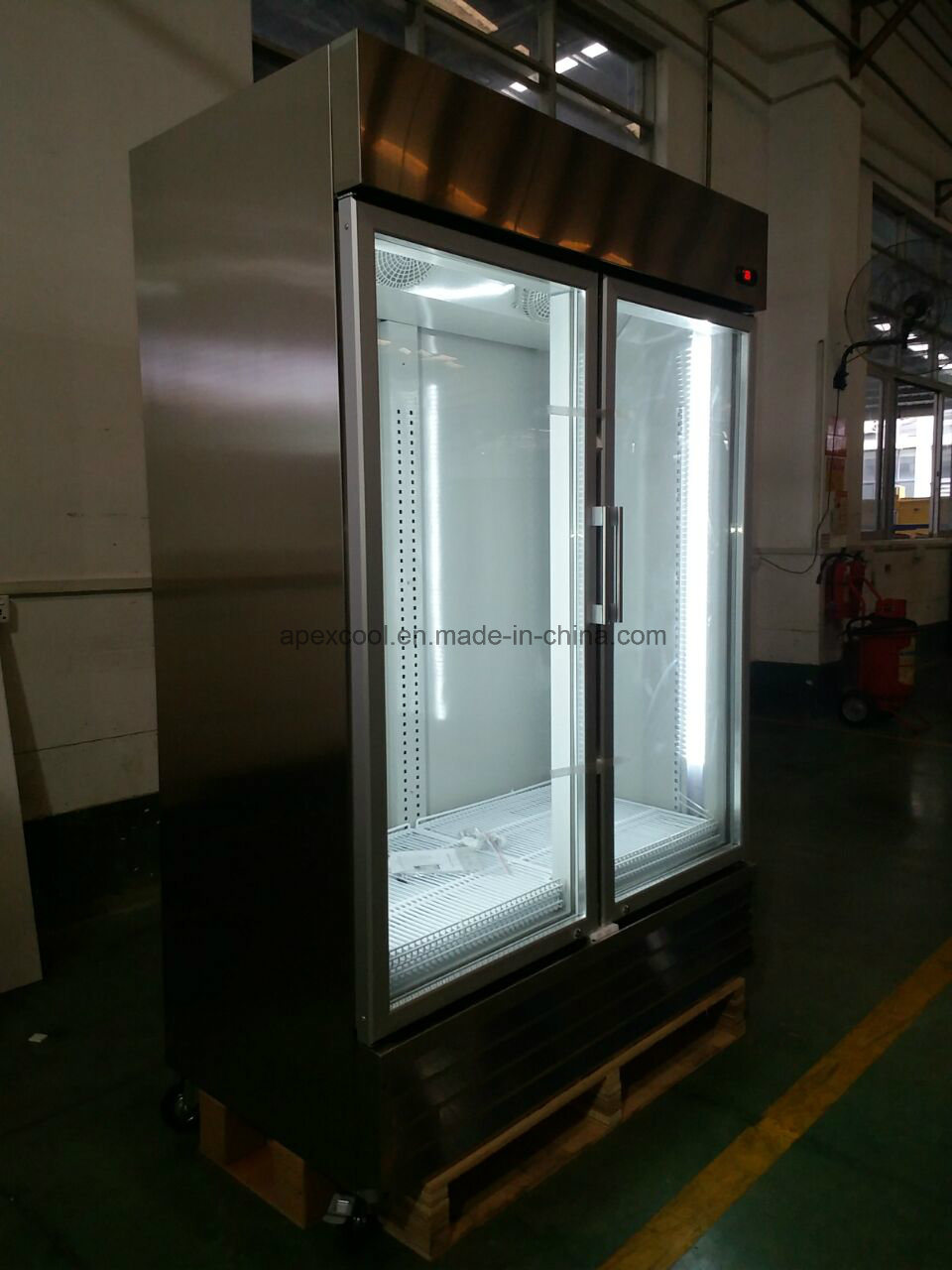 China with Lock and Handle Double Door Auto-Defrost Kitchen Glass ...