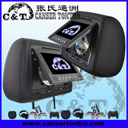 China 7 Car Dvd Headrest Player With Tft Lcd Monitor Screen Usb Sd Fm Ir Wireless Headphone 32 Bit Game H701dd China Car Dvd Car Dvd Monitor