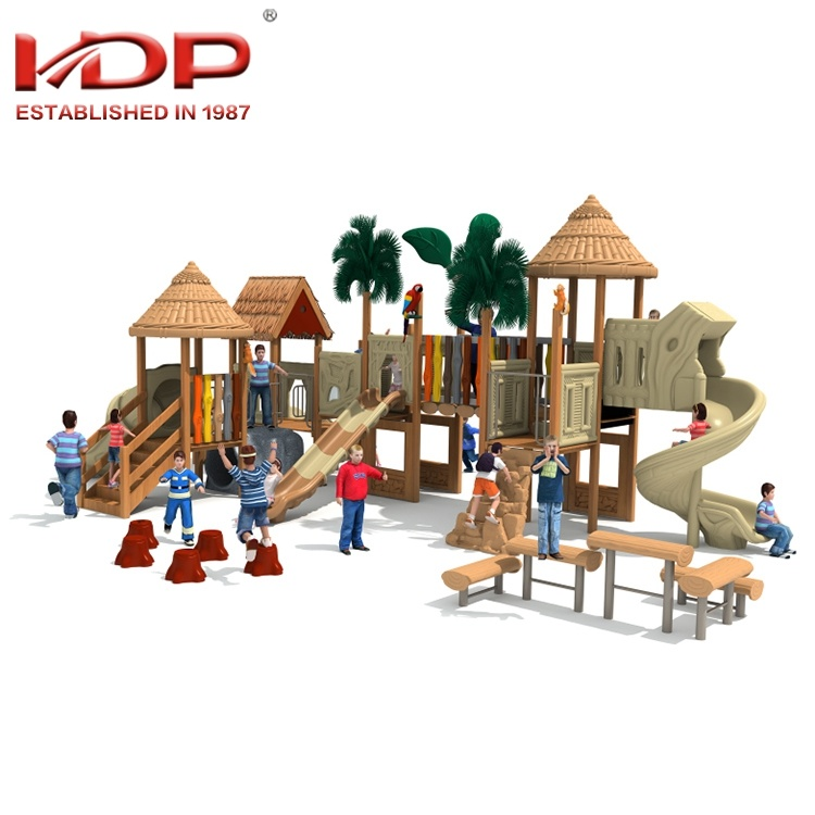 Hot Item Wooden Children Outdoor Playground Castle Theme Amusement Equipment