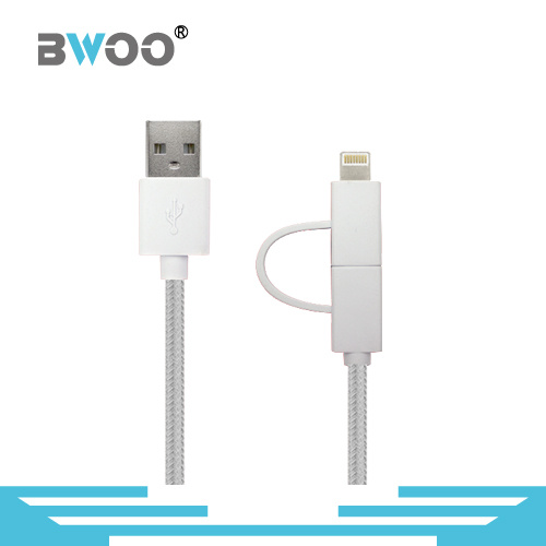 Factory Directly 2 in 1 Flexible Data Cable USB