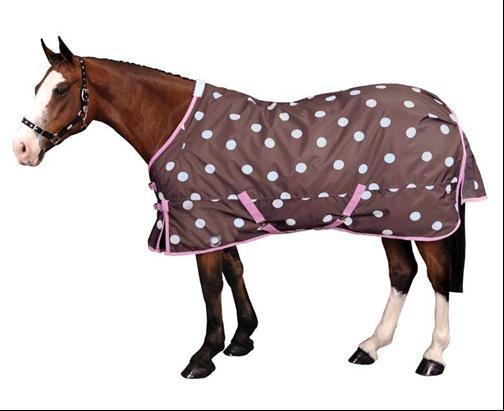 Chocolate Spotty Ripstop Horse Blankets