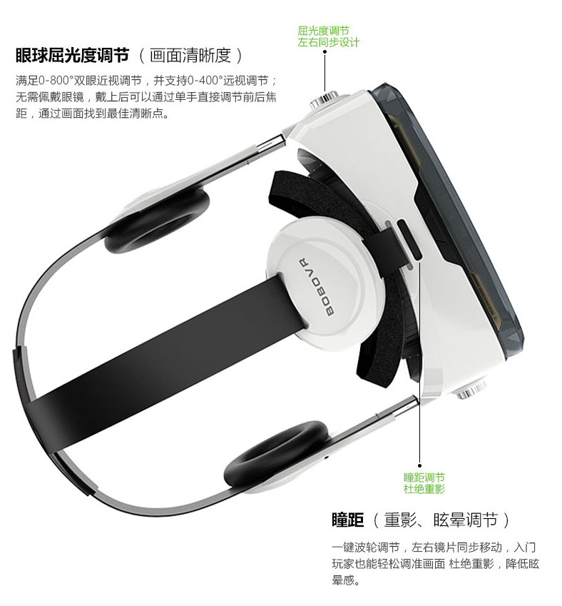 3D Glasses Virtual Reality Vr Box with Headset