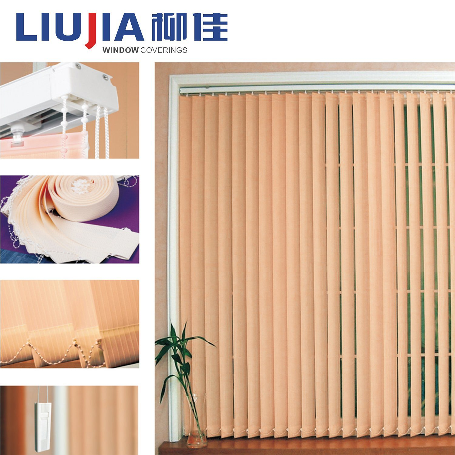 China Indoor Manual Vertical Blinds Curtain For Decoration China Blind Window Blinds