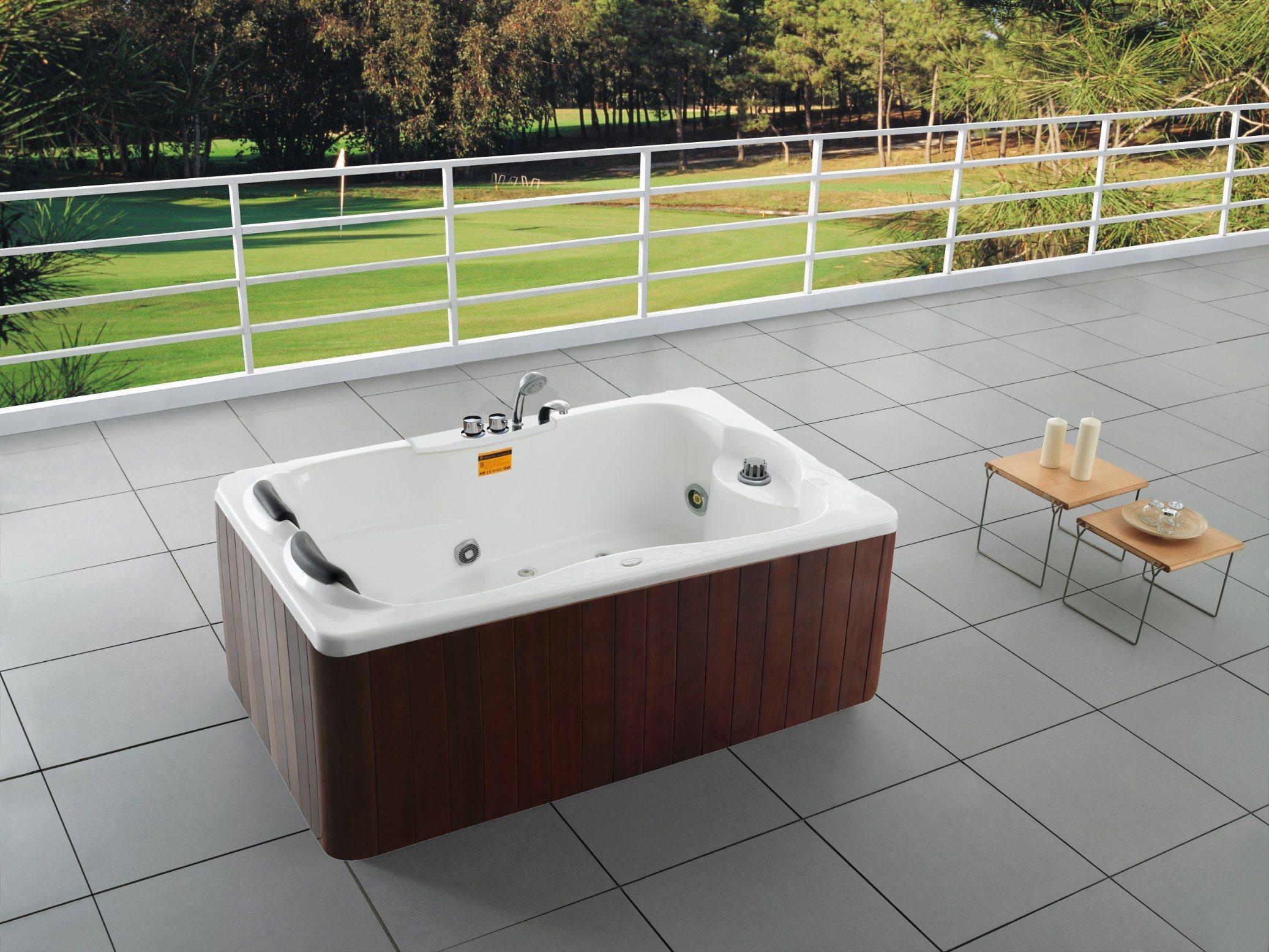 China Indoor 1 2 People Bathtub Hot Tub - China Indoor Massage ...