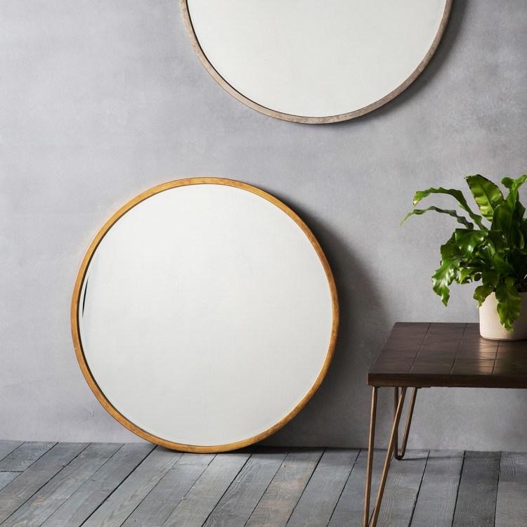 China Wooden Mirror Frame Art Decoratve, Round Mirror Wall Decor Wood