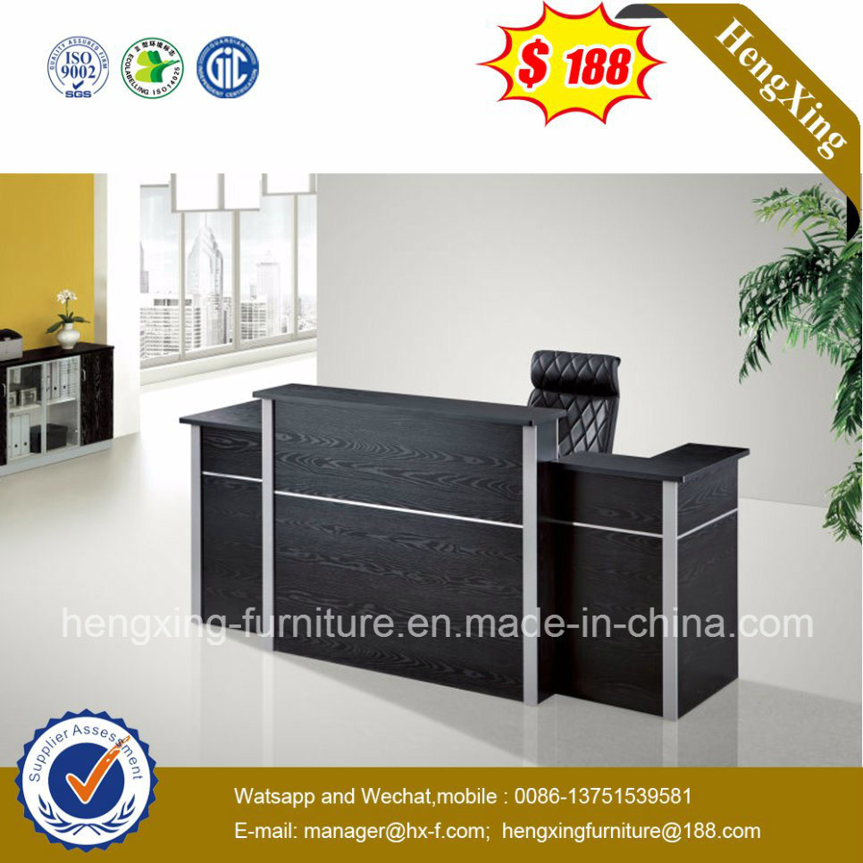China Modern Furniture Beauty Salon Small Balck Reception Desk Hx 6d014 Table Office