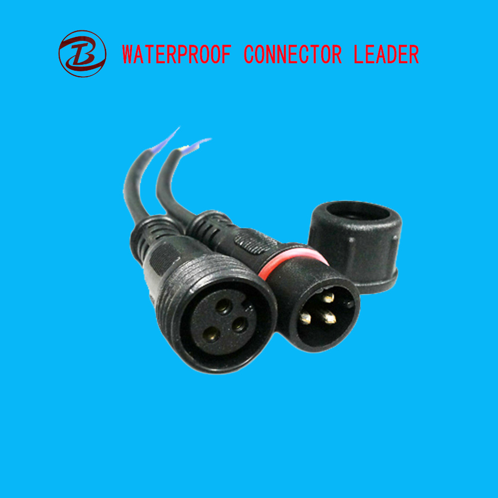 China 3 Ways Waterproof Electrical 2-3 Pin Cable Connector - China ...