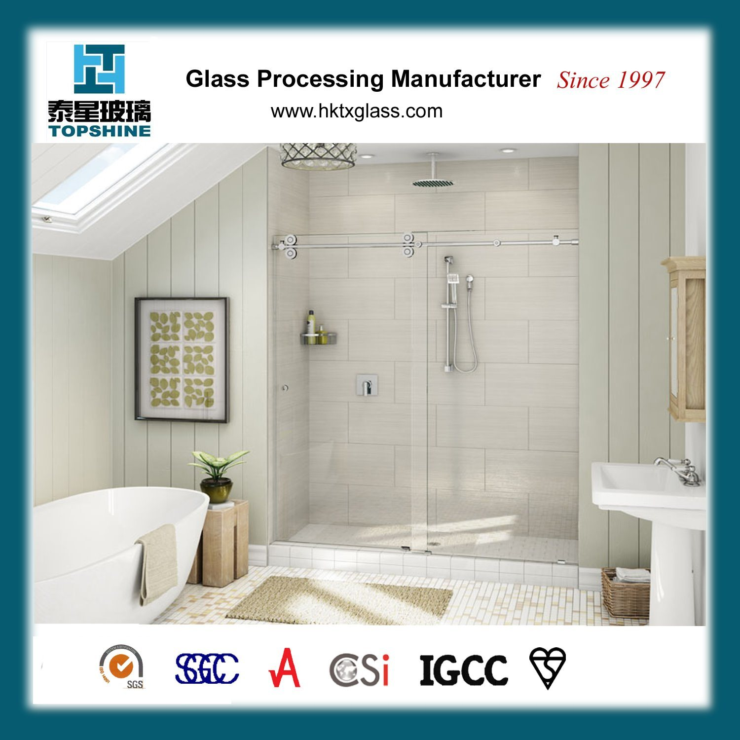 China Frameless Glass Sliding Door, Glass Shower Cubicle Door for ...