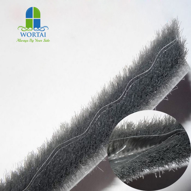 China Wool Pile With Fin Mohair Woven Brush Seal Weather