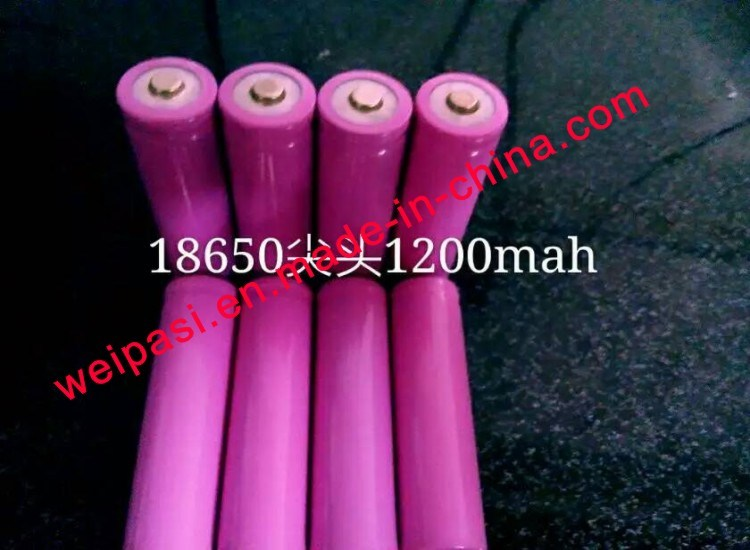 3.7V1000mAh, Lithium Battery, Li-ion 18650, Cylindrical, Rechargeable
