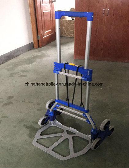 [Hot Item] 6 Wheel Stair Climbing Cart Folding Trolley Luggage Hand Truck