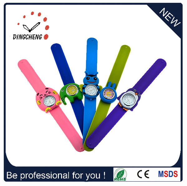 Kids/Children Junior Silicone Kids Slap Watch Funny Snap Kids Wrist Rubber Watch Cartoon Watches pictures & photos