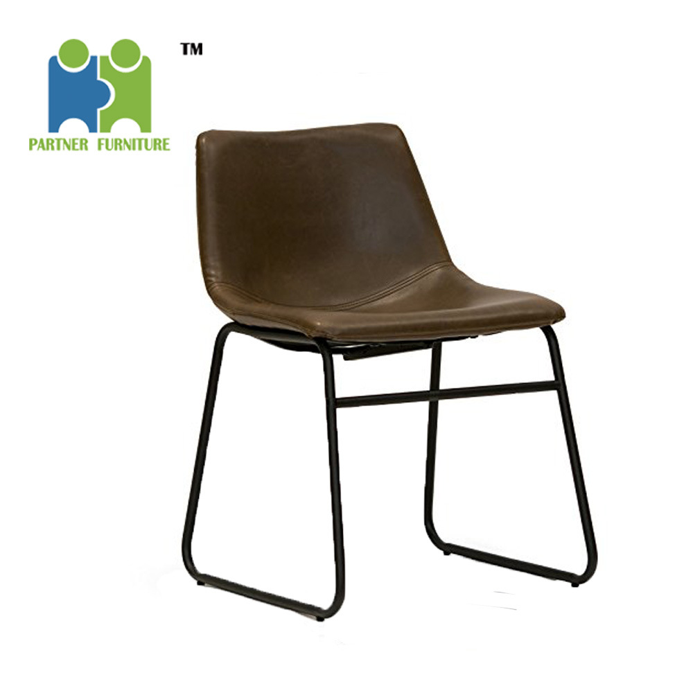 [Hot Item] (CINDY-DL) Lotusville Vintage PU Leather Dining Chairs