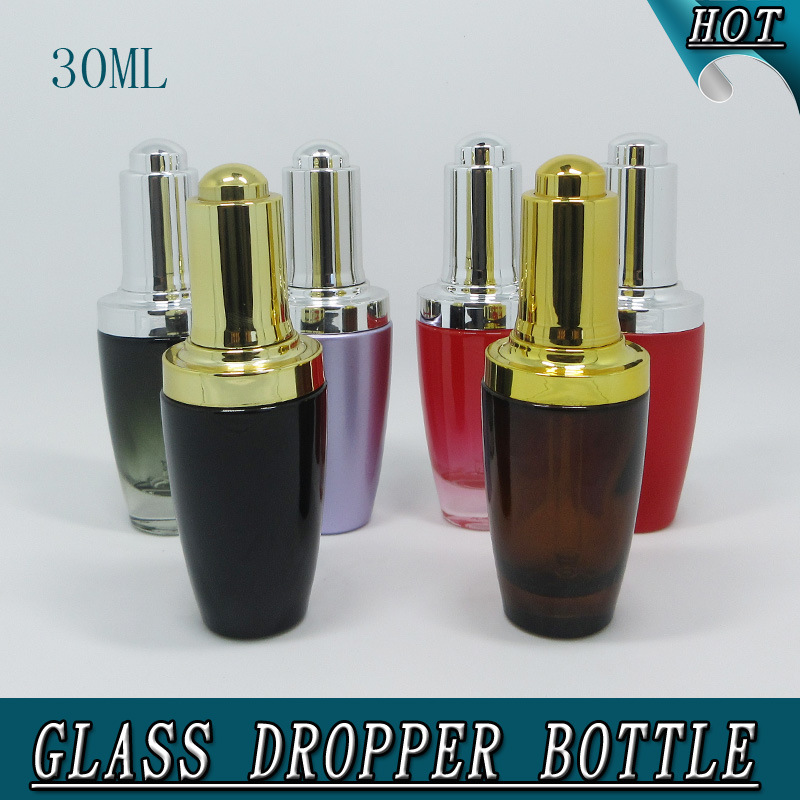 1oz 30ml Colorful Perfumes and Fragrances Press Pump Dropper Glass Bottle pictures & photos